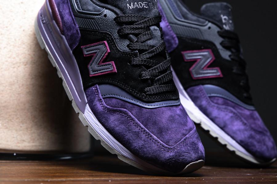New Balance M 997 en suède violet noir et gris (5)