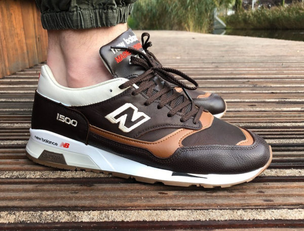 New Balance M1500GNB Elite Gent Pack on feet (made in England)