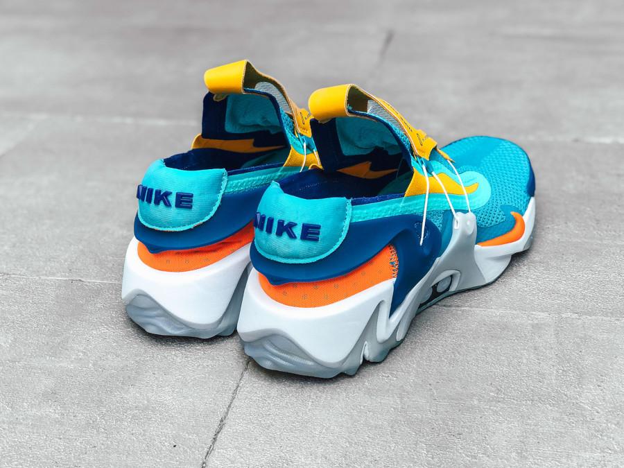 Nike Adapt Huarache bleu sarcelle jaune orange et verte (5)