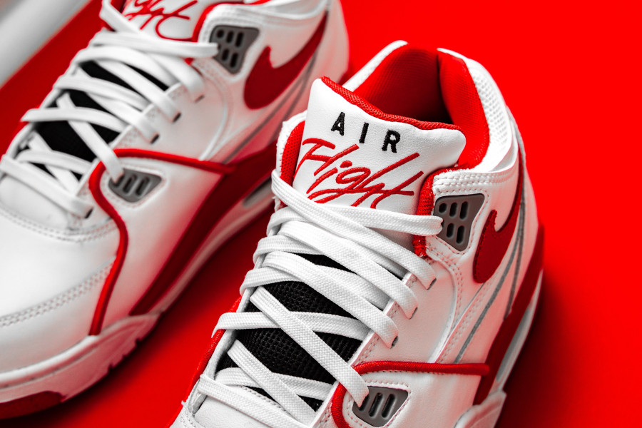 Nike Air Flight 89 blanche rouge et grise (5)