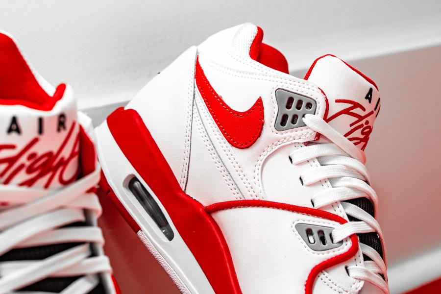 Nike Air Flight 89 blanche rouge et grise (6)