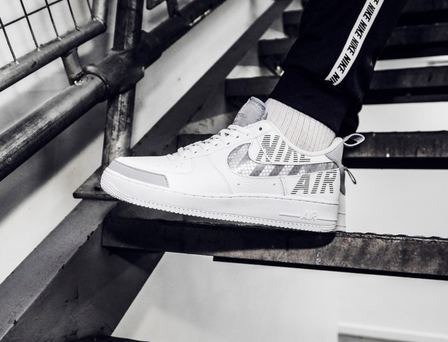 Nike Air Force 1 07 LV8 Utility blanche et grise (3)