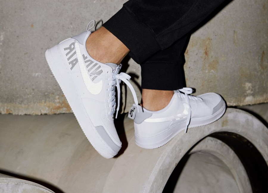 Nike Air Force 1 07 LV8 Utility blanche et grise (4)