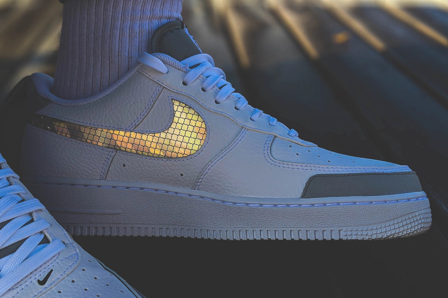 Nike Air Force 1 07 LV8 Utility blanche et grise (5)