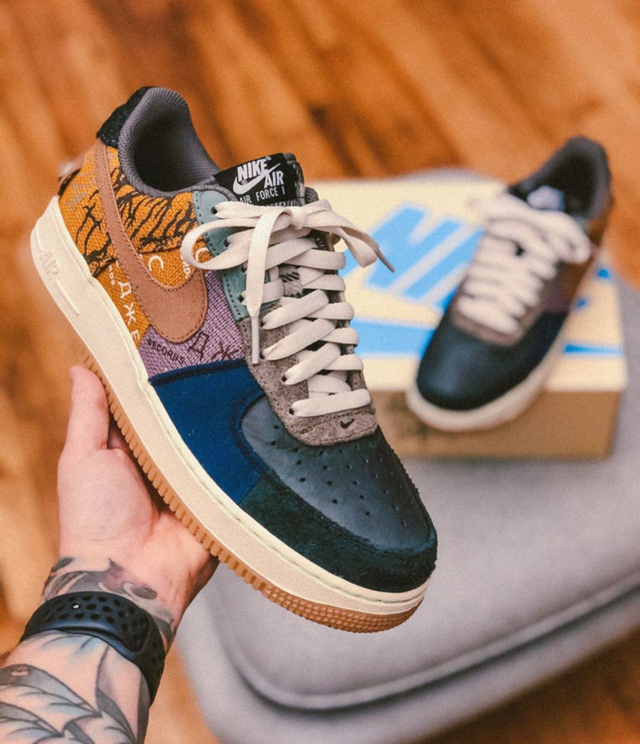 Nike Air Force One Multi-Color Muted Bronze-Fossil (6)
