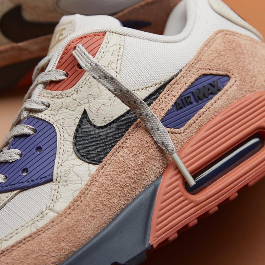 Nike Air Max 90 PRM beige marron et violet (3)