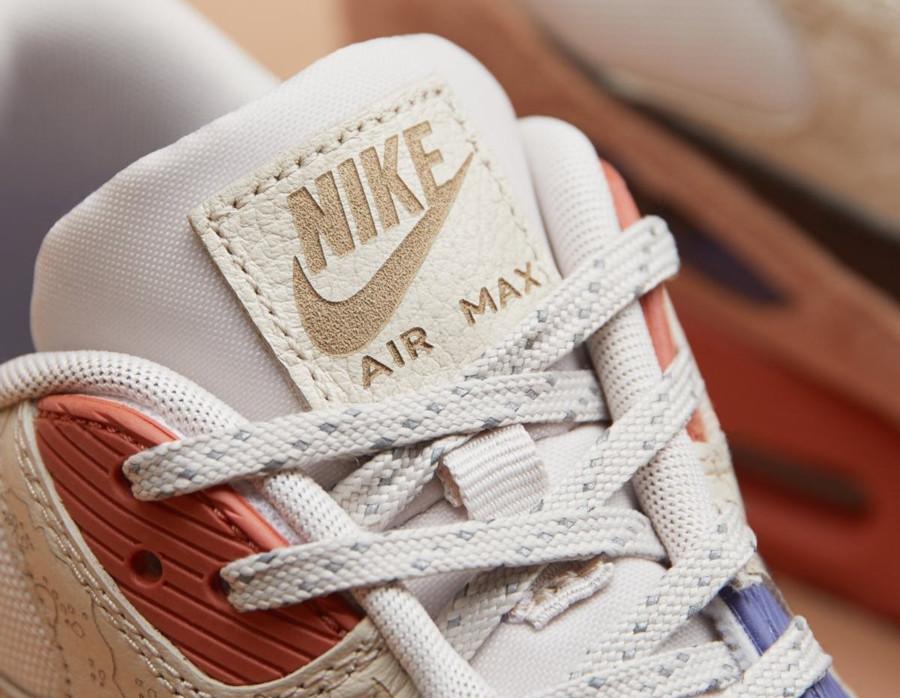 Nike Air Max 90 PRM beige marron et violet (4)