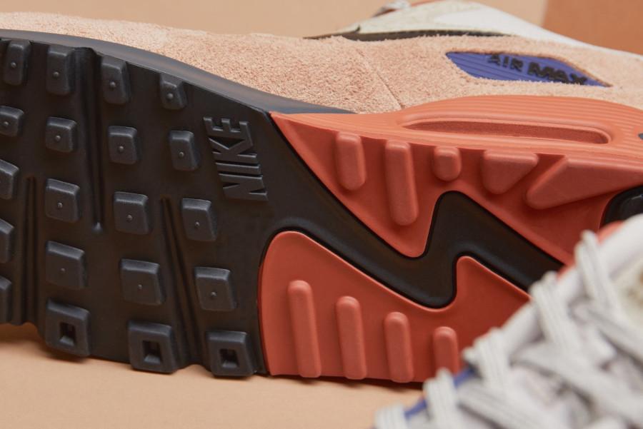 Nike Air Max 90 PRM beige marron et violet (5)