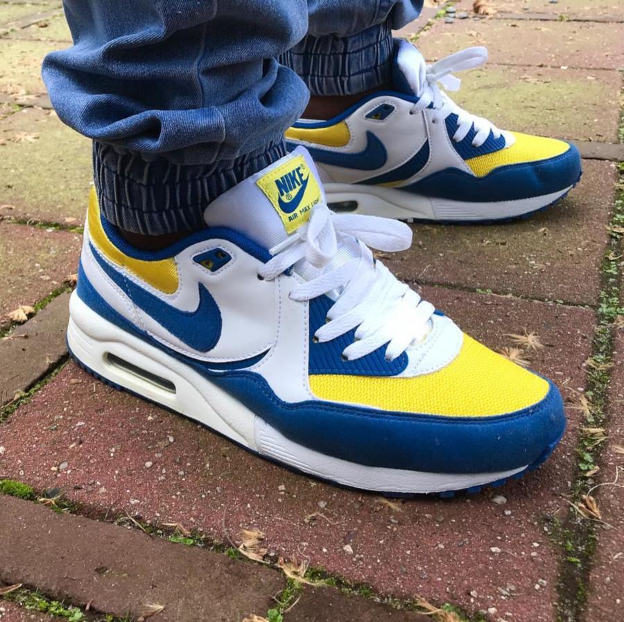 Nike Air Max Light Blue Yellow White - @dj_cutnice