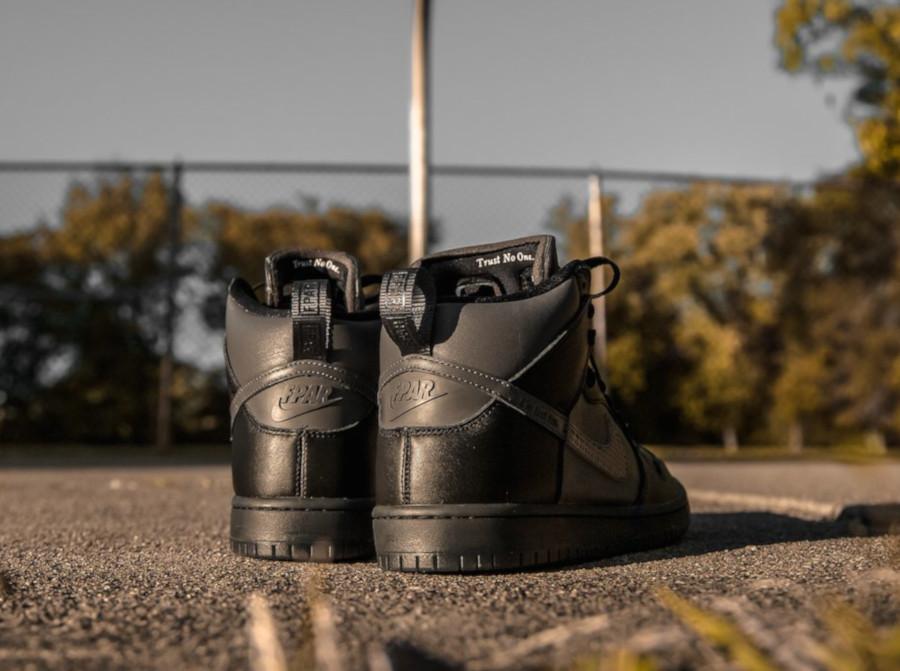 Nike Dunk High Pro SB noire et grise BV1052 001 (1)