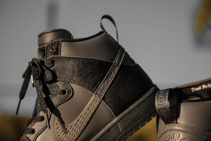 Nike Dunk High Pro SB noire et grise BV1052 001 (3)