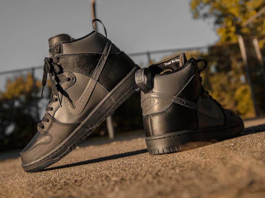 Nike Dunk High Pro SB noire et grise BV1052 001 (4)