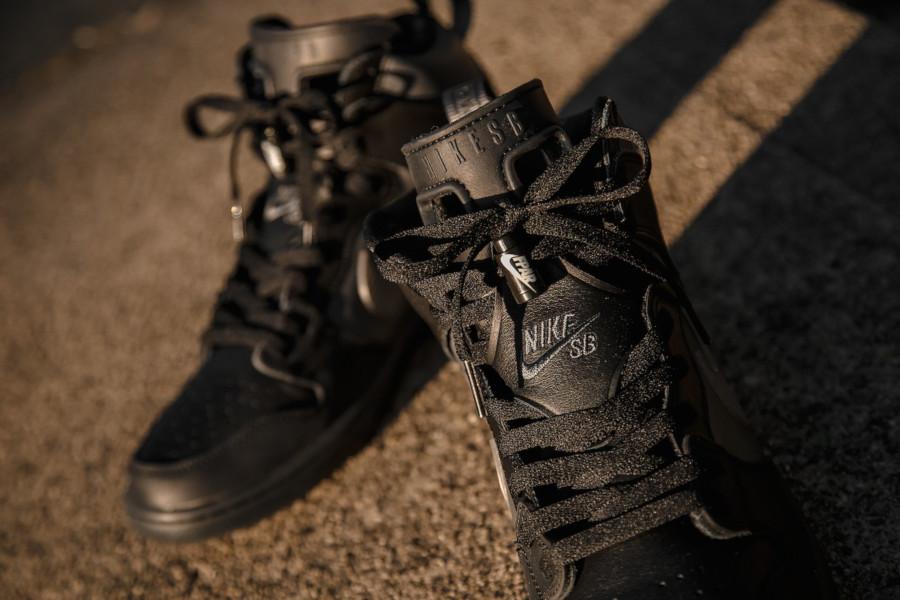 Nike Dunk High Pro SB noire et grise BV1052 001 (5)