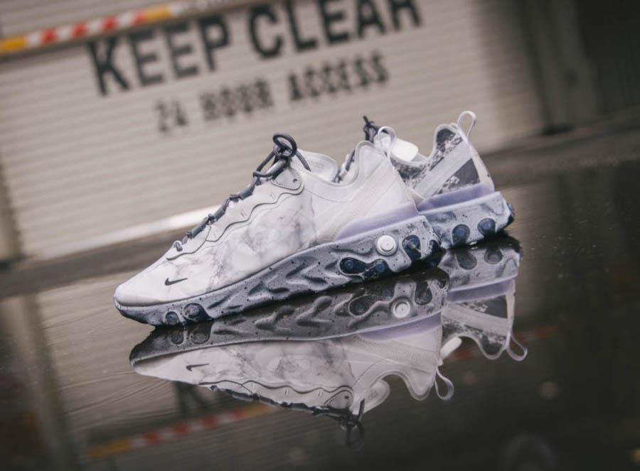 Nike React Element 55 Split grise blanche et noire (4)