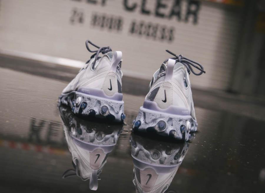 Nike React Element 55 Split grise blanche et noire (5)