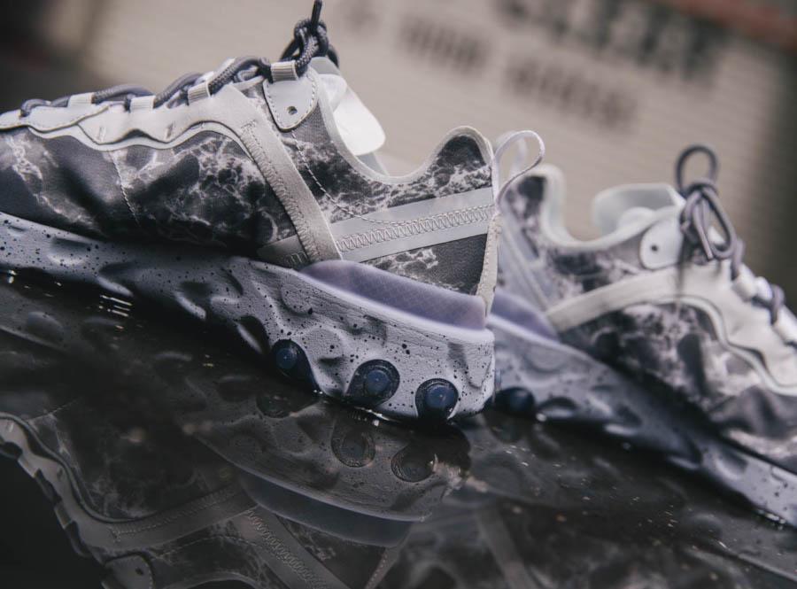 Nike React Element 55 Split grise blanche et noire (7)