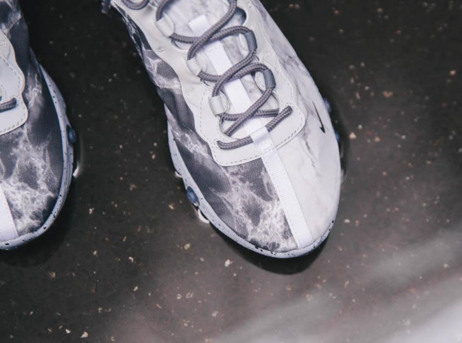 Nike React Element 55 Split grise blanche et noire (8)