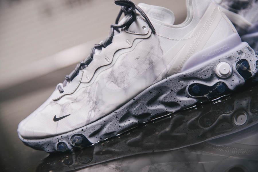 Nike React Element 55 Split grise blanche et noire (9)