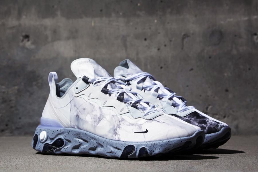 Nike React Element 55 grise blanche et noire CJ3312-001 (2)