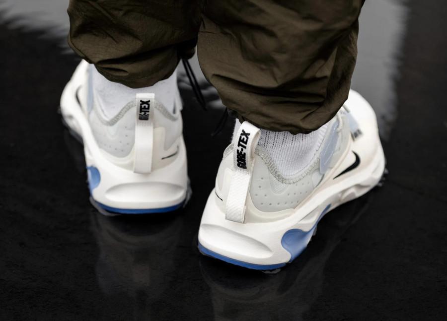 Nike React Type blanche avec semelle icy transparente (1)