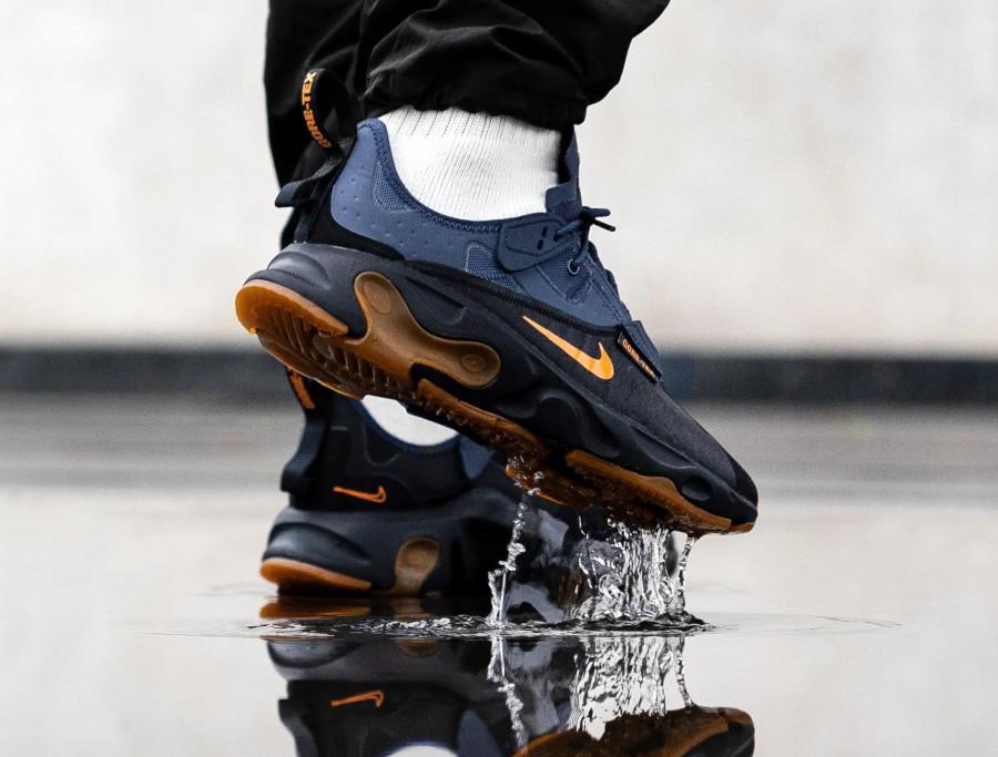 Nike React Type noire bleue orange et gomme (1)
