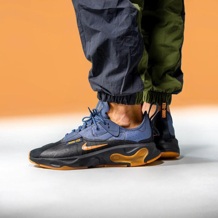 Nike React Type noire bleue orange et gomme (3)