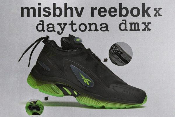 Reebok Daytona DMX Zip MISBHV Black Solar Green EG9677
