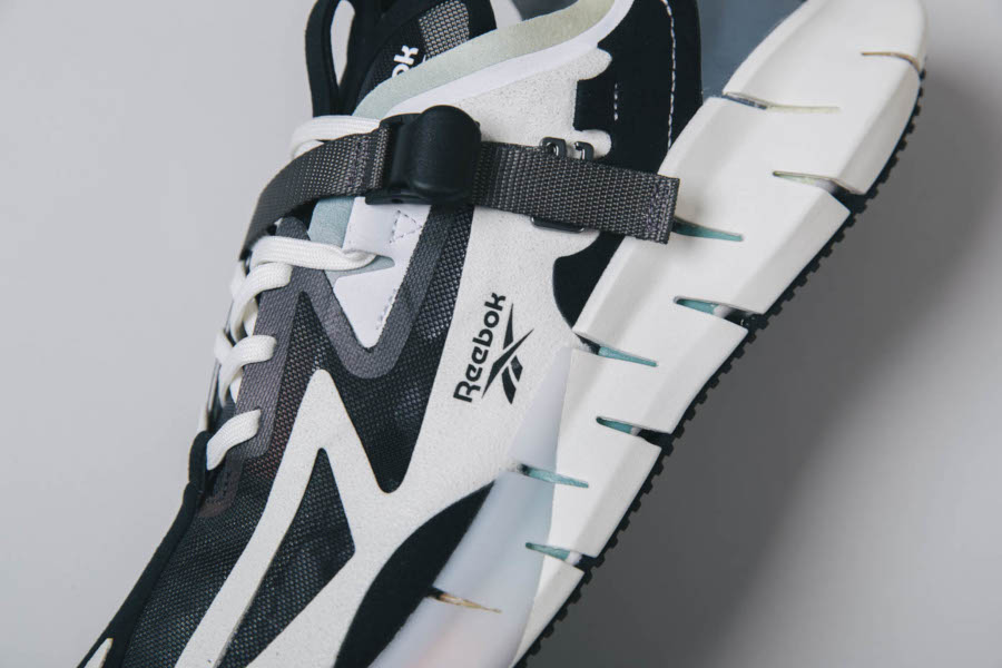 Reebok Zig Kinetica Concept blanche noire et blue EG8914 (2)