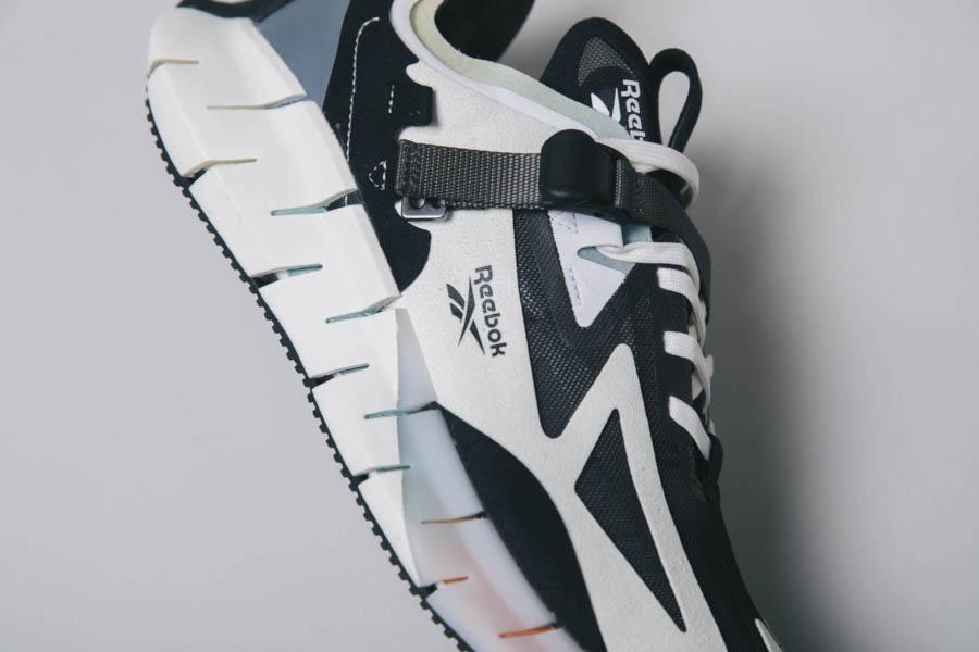 Reebok Zig Kinetica Concept blanche noire et blue EG8914 (4)