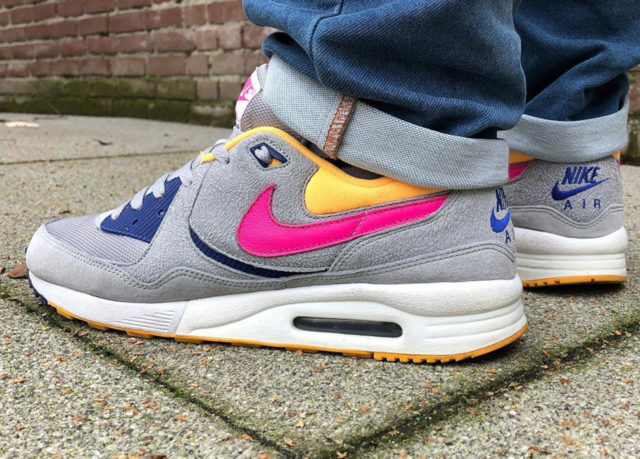 Size x Nike Air Max Light Cement Pack Silver Orange Pink Blue - @mple1975