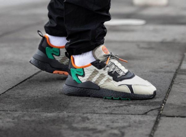 adidas-nite-jogger-marron-beige-noire-vert-orange-EE5569 (1)