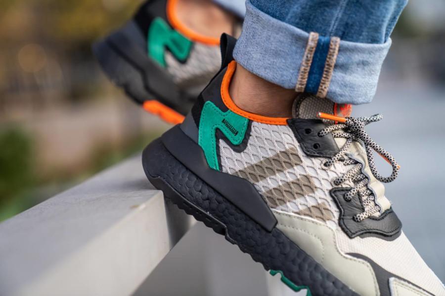 adidas-nite-jogger-marron-beige-noire-vert-orange-EE5569 (2)