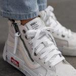 Vans SK8 Hi Reissue Cap Glitter Mix 'Blanc De Blanc'