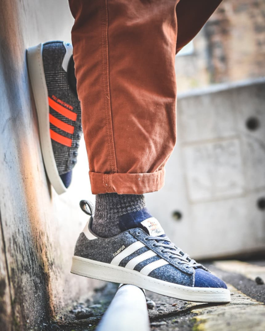 Adidas Campus 80's Size Fox Brothers Flannel