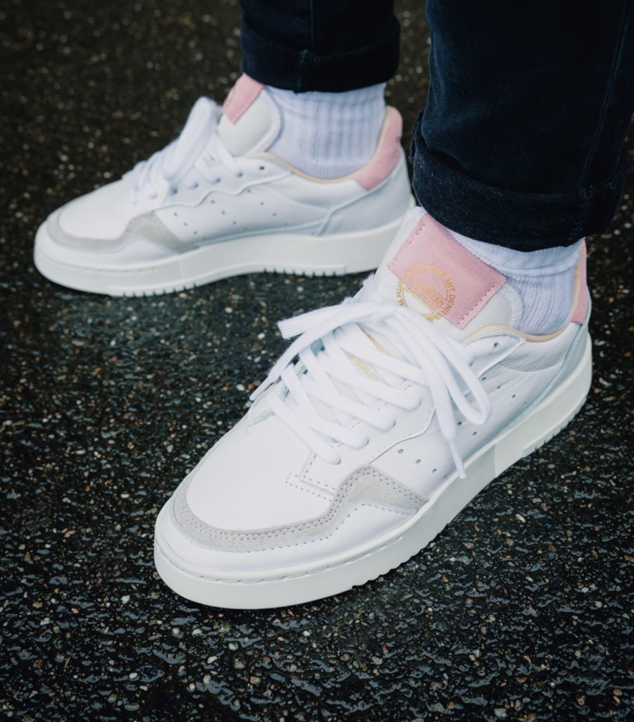 Adidas Supercourt W 'Cloud White True Pink' (2)