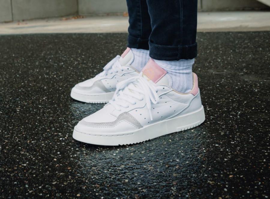 Adidas Supercourt W 'Cloud White True Pink' (3)