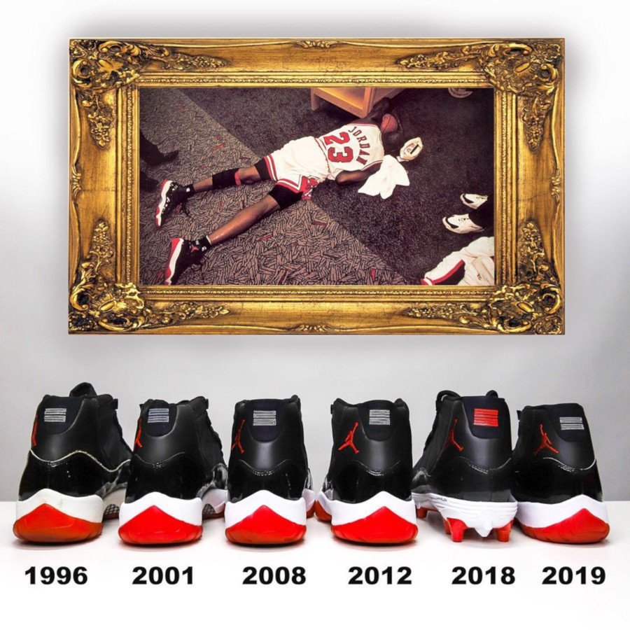 Air Jordan 11 Retro Bred 1996 2001 2008 2012 et 2019