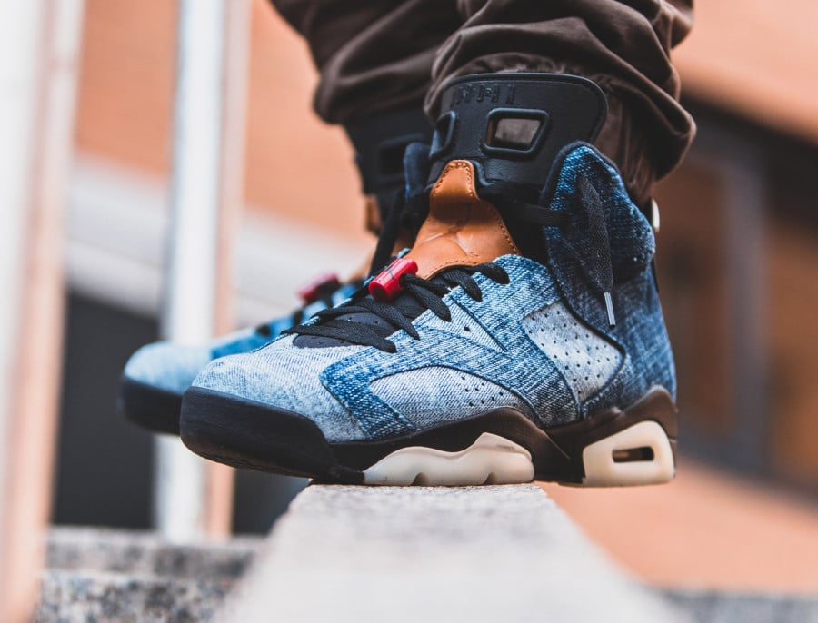 Air Jordan 6 Retro en denim délavé bleu CT5350-401