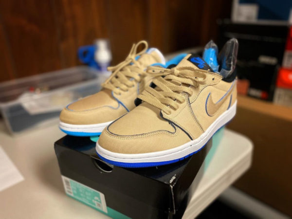 Lance Mountain x Nike SB Air Jordan 1 Low QS 'Desert Ore Royal Blue' (3)