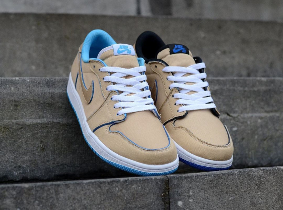 Lance Mountain x Nike SB Air Jordan 1 Low QS 'Desert Ore Royal Blue' (4)