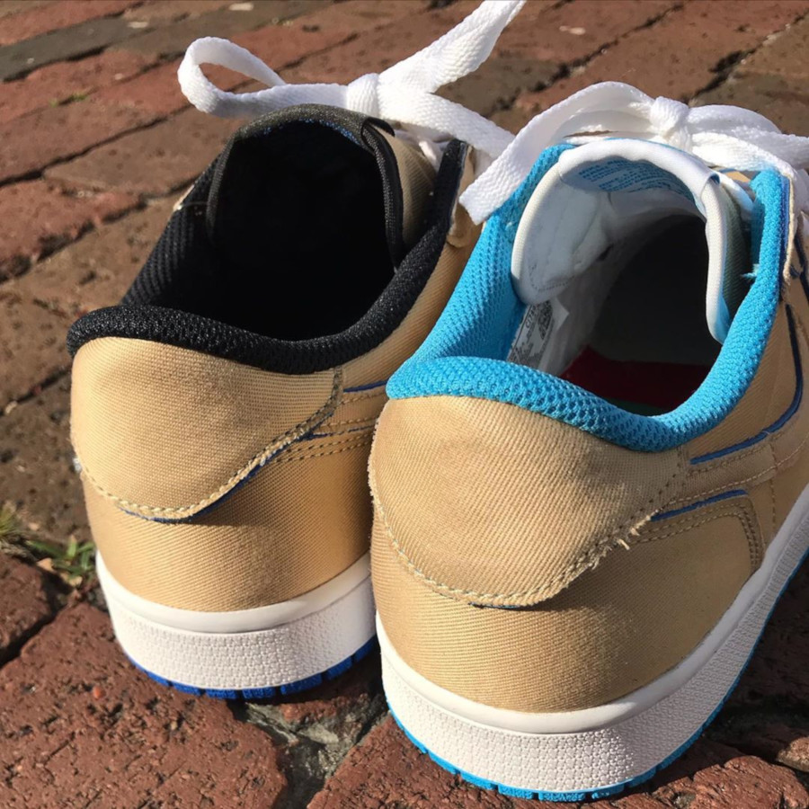 Lance Mountain x Nike SB Air Jordan 1 Low QS 'Desert Ore Royal Blue' (6)
