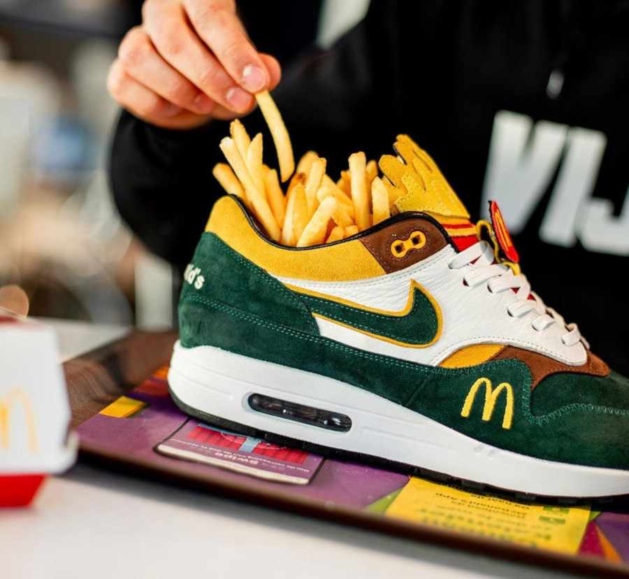 Mc Donald's x Nike Air Max 1 Handcrafted (1-1) (2)