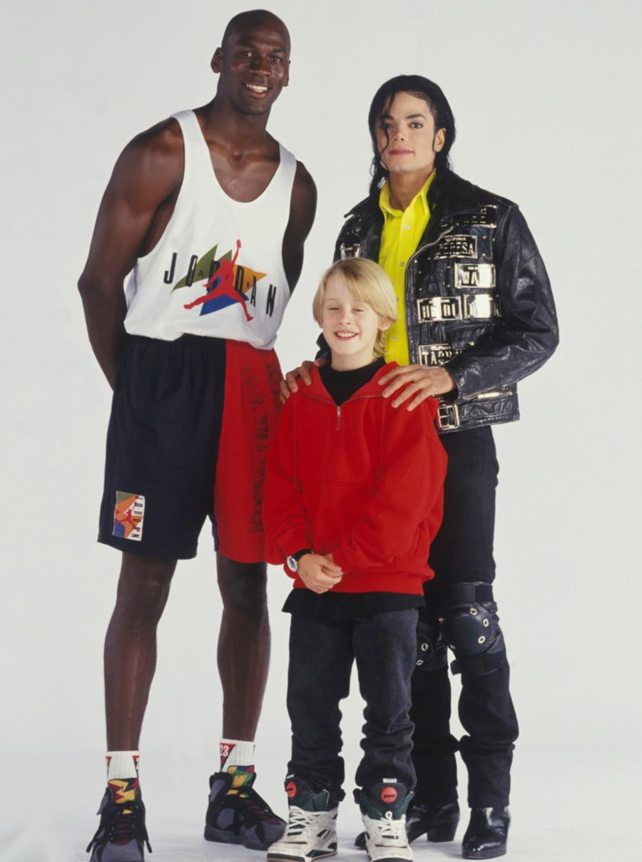 Michael Jackson Michael Jordan et Macaulay Culkin en Reebok Pump Blacktop Battleground