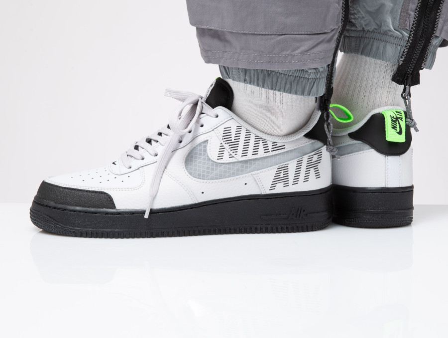 Nike Air Force 1 '07 LV8 Under Construction 'Vast Grey Electric Green' (3-1)