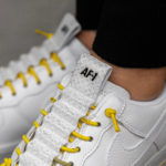 Nike Wmns Air Force 1 '07 Lux Pull Tab 'White Chrome Yellow'