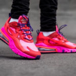 Nike Wmns Air Max 270 React 'Electronic Music' Mystic Red Bright Crimson