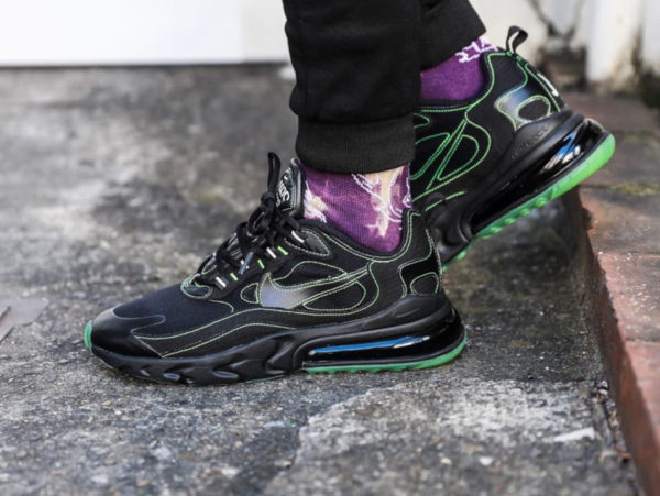 Nike Air Max 270 React SP Black Green CQ6549