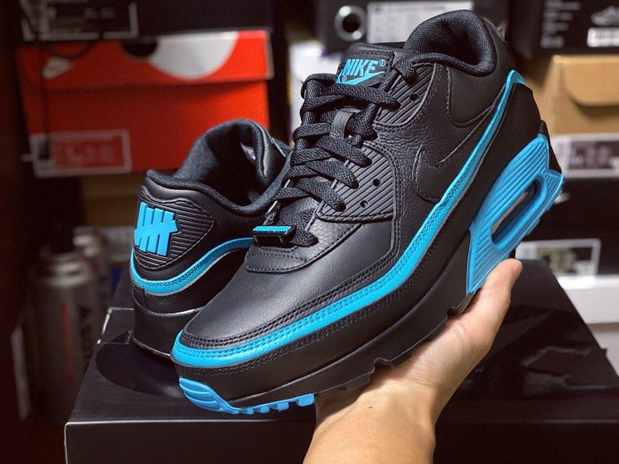 Nike Air Max 90 Black Blue Fury CJ7197-002 (3)