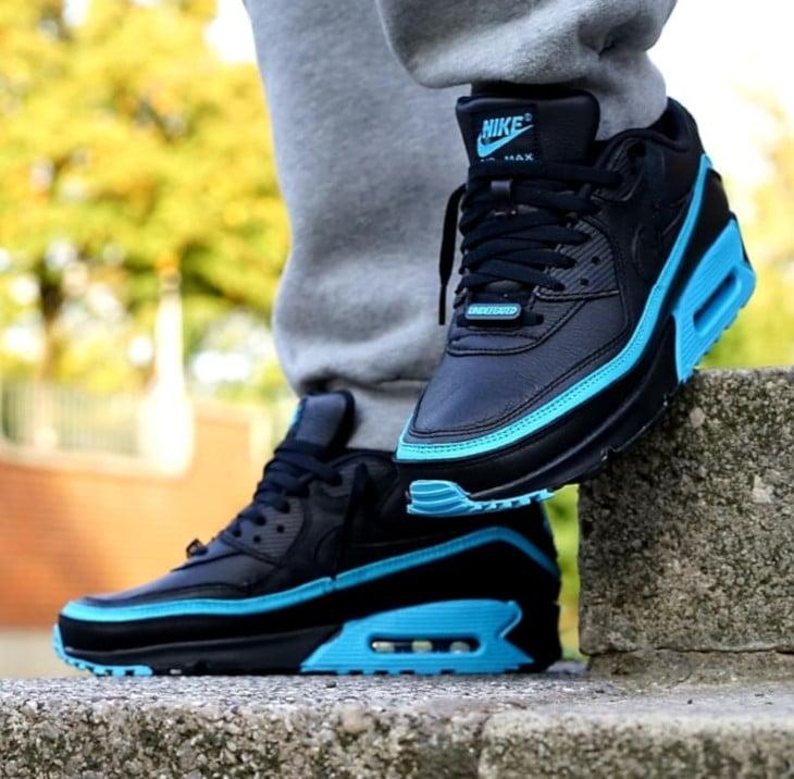 Nike Air Max 90 Black Blue Fury CJ7197-002