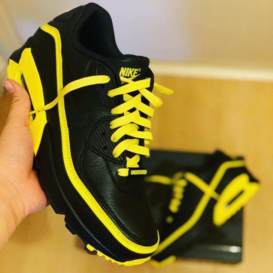 Nike Air Max 90 Black Optic Yellow CJ7197-001 (4)